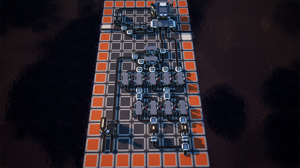 Heavy Modular Frame Super-Efficient Factory Layout