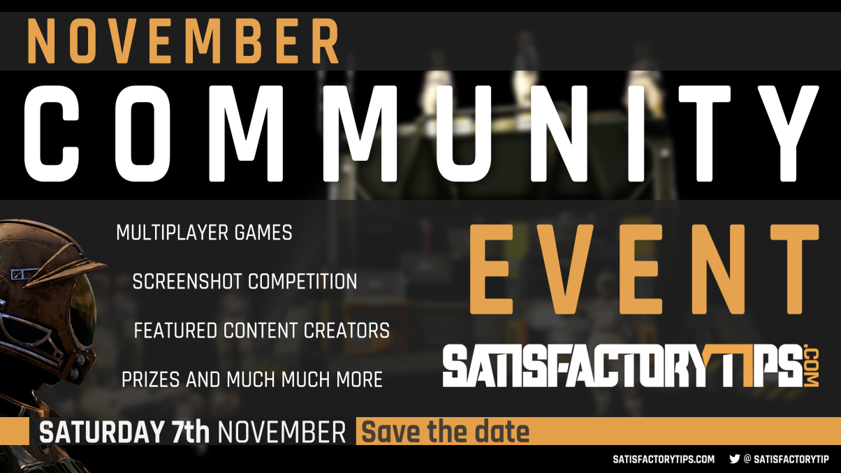 Satisfactorytips Official November Community Event